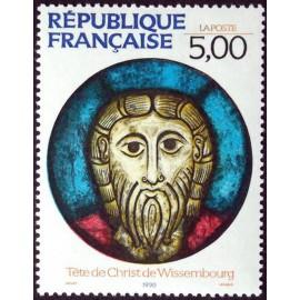 France Yvert Num 2637 ** Tableau Christ Vitrail  1990