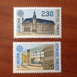 France Yvert Num 2642-2643 ** Europa  1990
