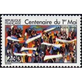 France Yvert Num 2644 ** 1r Mai  1990