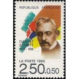 France Yvert Num 2749 ** Musique Florent Schmitt 1992