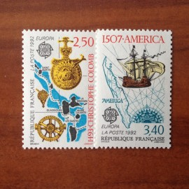 France Yvert Num 2755-2756 ** Europa 1992 Ch Colomb  1992
