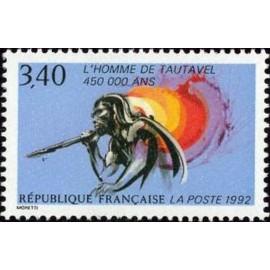 France Yvert Num 2759 ** Tautavel prehistoire  1992