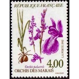 France Yvert Num 2768 ** Fleurs   1992