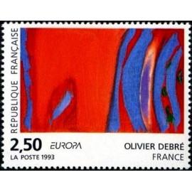 France Yvert Num 2797 ** Tableau Europa  1993