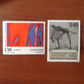 France Yvert Num 2797-2798 ** Tableau Europa  1993