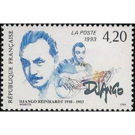 France Yvert Num 2810 ** Django Reinhardt   1993