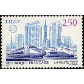 France Yvert Num 2811 ** TGV Lille  1993
