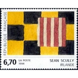 France Yvert Num 2858 ** Tableau Sean Scully  1994