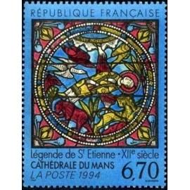 France Yvert Num 2859 ** Tableau Vitrail St   1994