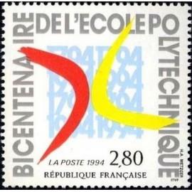 France Yvert Num 2862 ** ecole polutechnique  1994