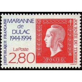 France Yvert Num 2864 ** Marianne Dulac 2f80  1994