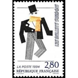 France Yvert Num 2869 ** France Suede  1994