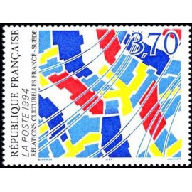 France Yvert Num 2871 ** France Suede Tableau 1994