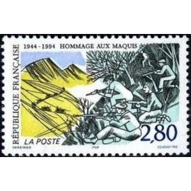 France Yvert Num 2876 ** Resistance Maquis  1994