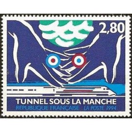 France Yvert Num 2881 ** Tunnel sous la Manche  1994