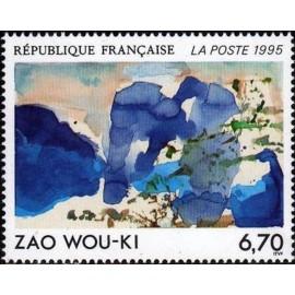 France Yvert Num 2928 ** Tableau Zao Wou-ki  1995