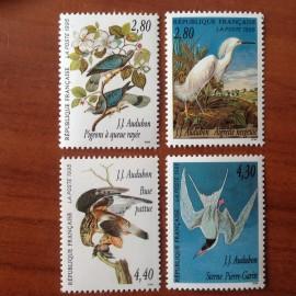 France Yvert Num 2929-2932 ** Audubon  1995