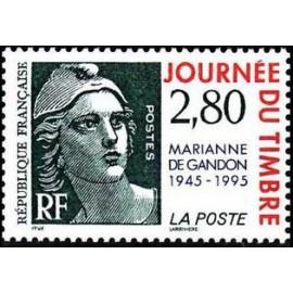 France Yvert Num 2934 ** gandon 2f80+0,60  1995