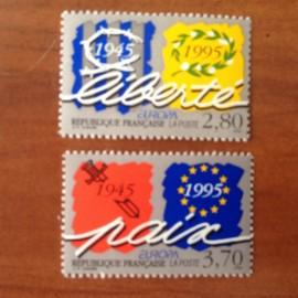 France Yvert Num 2941-2942 ** Europa   1995