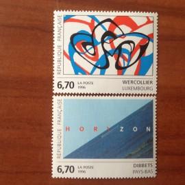 France Yvert Num 2986-2987 ** Tableau  1996