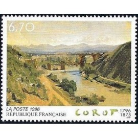 France Yvert Num 2989 ** Tableau Corot  1996