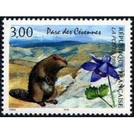 France Yvert Num 2997 ** Parc des cevennes marmotte 1996