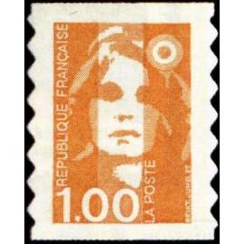 France Yvert Num 3009 ** 1f Orange Briat  1996