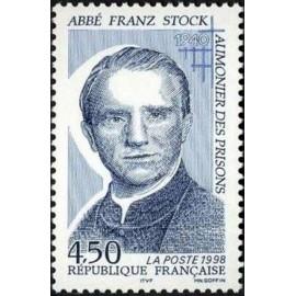 France Yvert Num 3138 ** Franz Stock Abbé  1998
