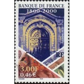 France Yvert Num 3299 ** Banque  2000