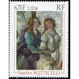 France Yvert Num 3301 ** Tableau Botticelli  2000