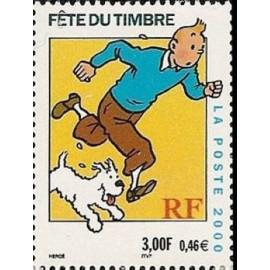France Yvert Num 3303 ** Tintin en 2000