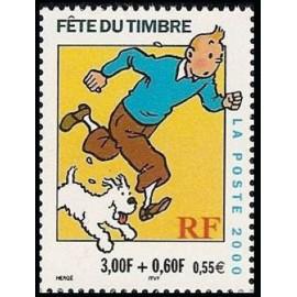 France Yvert Num 3304 ** Tintin en 2000