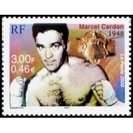 France Yvert Num 3312 ** Cerdan Boxe en 2000