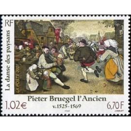 France Yvert Num 3369 ** Tableau Bruegel en 2001