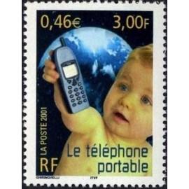 France Yvert Num 3374 ** portable en 2001
