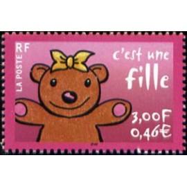 France Yvert Num 3378 ** ours en 2001