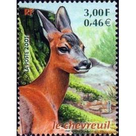 France Yvert Num 3382 ** Chevreuil en 2001