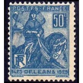 France num Yvert 257 ** MNH Jeanne D'arc Cheval Année 1929
