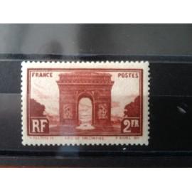 France num Yvert 258 ** MNH Arc de Triomphe Paris Année 1929