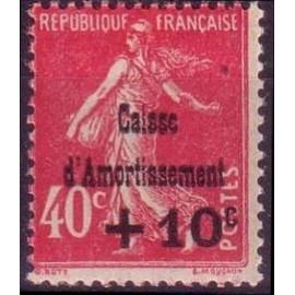 France num Yvert 266 ** MNH Caisse d'amortissement Semeuse  Année 1930