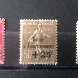 France num Yvert 267 ** MNH Caisse d'amortissement Semeuse  Année 1930