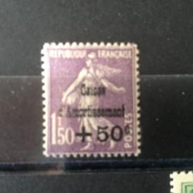 France num Yvert 268 ** MNH Caisse d'amortissement Semeuse  Année 1930