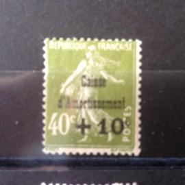 France num Yvert 275 ** MNH Caisse d'amortissement Semeuse  Année 1931