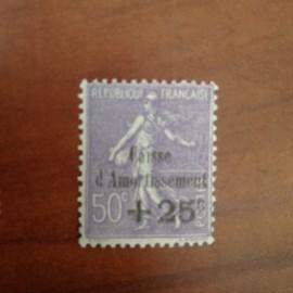 France num Yvert 276 ** MNH Caisse d'amortissement Semeuse  Année 1931