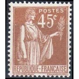 France num Yvert 282 ** MNH Type Paix Année 1932