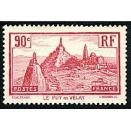 France num Yvert 290 ** MNH Le Puy en Velay Année 1933