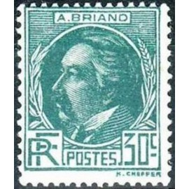 France num Yvert 291 ** MNH Aristide Briand Année 1933