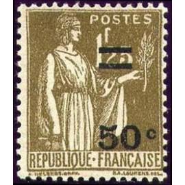France num Yvert 298 ** MNH Type paix surchargé Année 1934