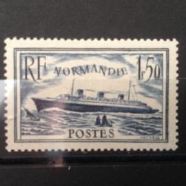 France num Yvert 299 ** MNH Paquebot Normandie Année 1934