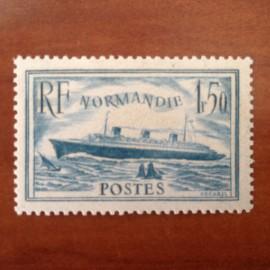 France num Yvert 300 ** MNH Paquebot Normandie Année 1934